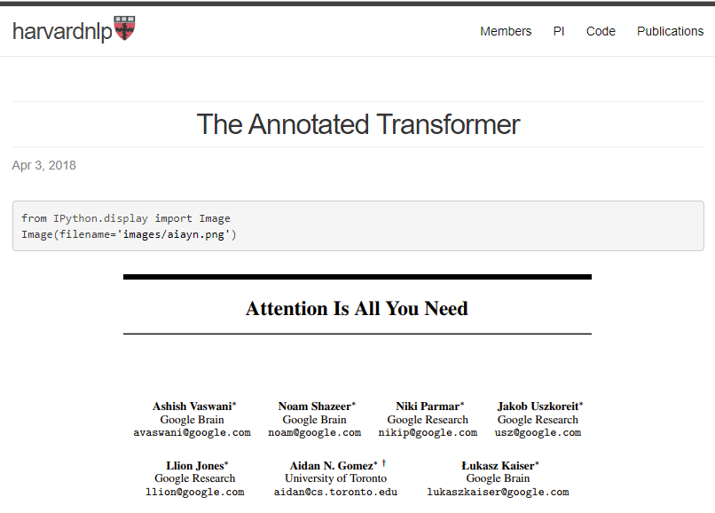 Annotated Transformer Post